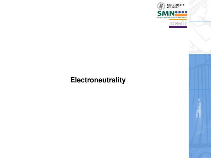 Electroneutrality