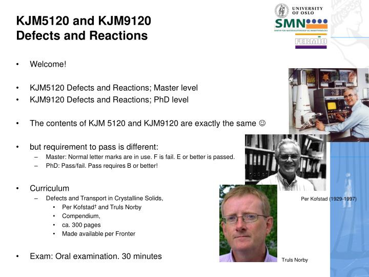 Kjm5120 and kjm9120 defects and reactions1