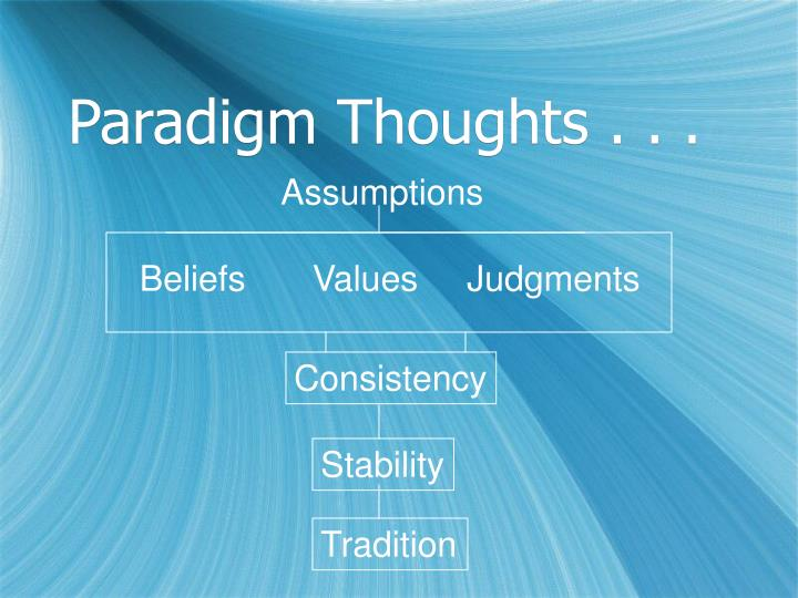 Paradigm Thoughts . . .