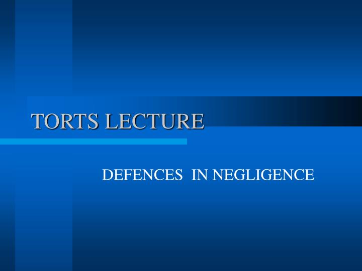 Torts lecture