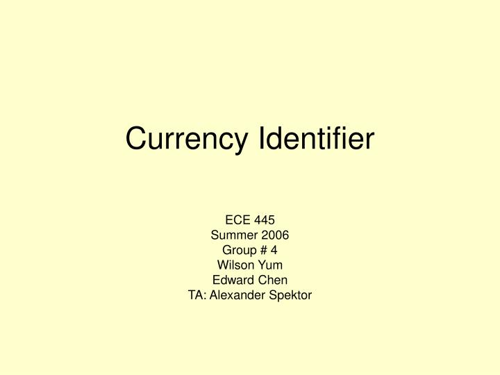 currency identifier