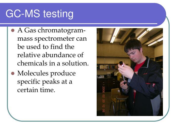 GC-MS testing