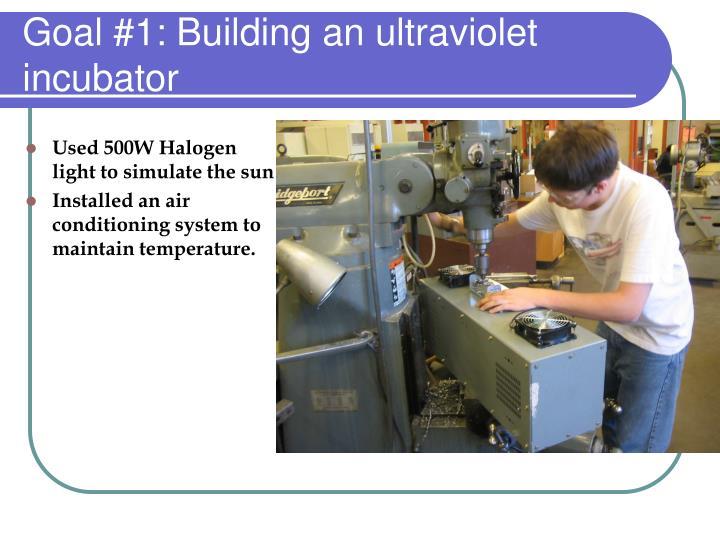 Goal #1: Building an ultraviolet incubator