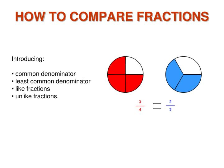 how to compare fractions n.