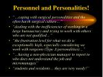 personnel and personalities