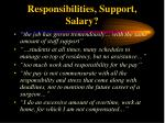 responsibilities support salary