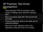 xp practices test driven development