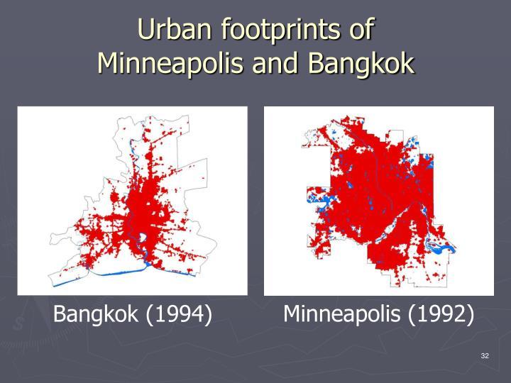 Urban footprints of