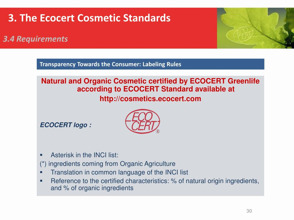 PPT - Ecocert Natural & Organic cosmetics certification PowerPoint