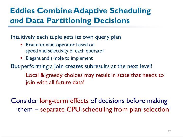 Eddies Combine Adaptive Scheduling