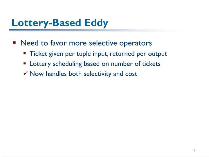 Lottery-Based Eddy