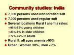 community studies india