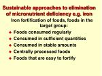 sustainable approaches to elimination of micronutrient deficiency e g iron