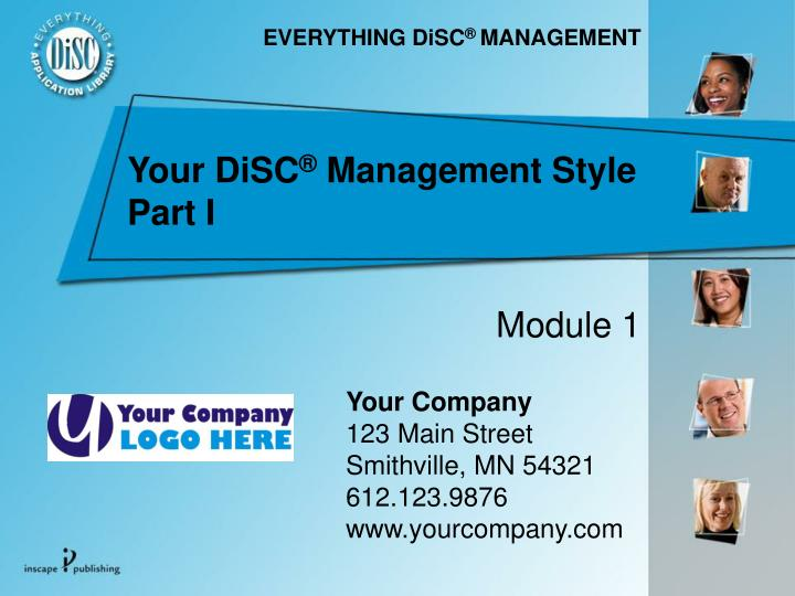 your disc management style part i n.