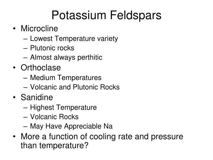 Potassium Feldspars