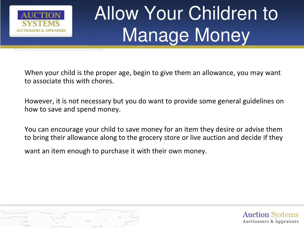 Allow Your Children to Manage Money
