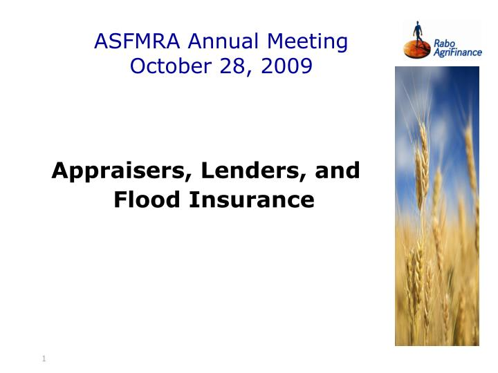 Asfmra annual meeting october 28 2009