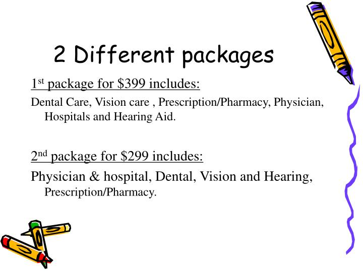 2 Different packages