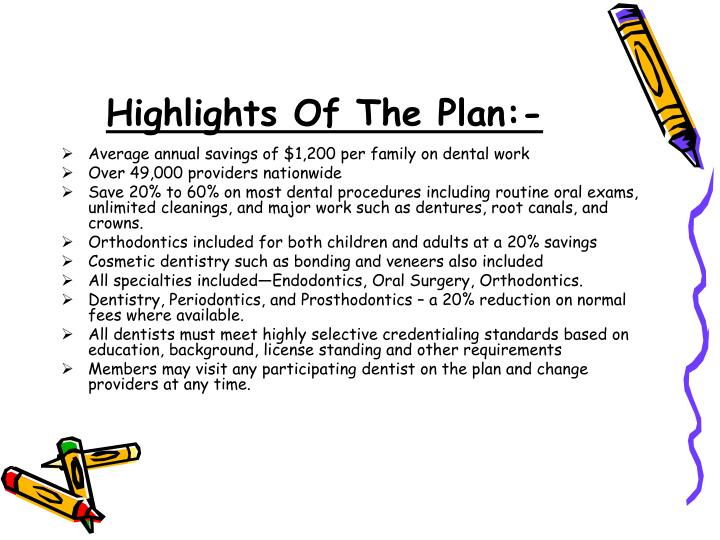 Highlights Of The Plan:-