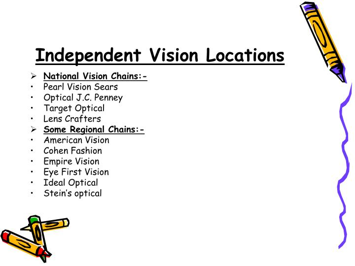 Independent Vision Locations