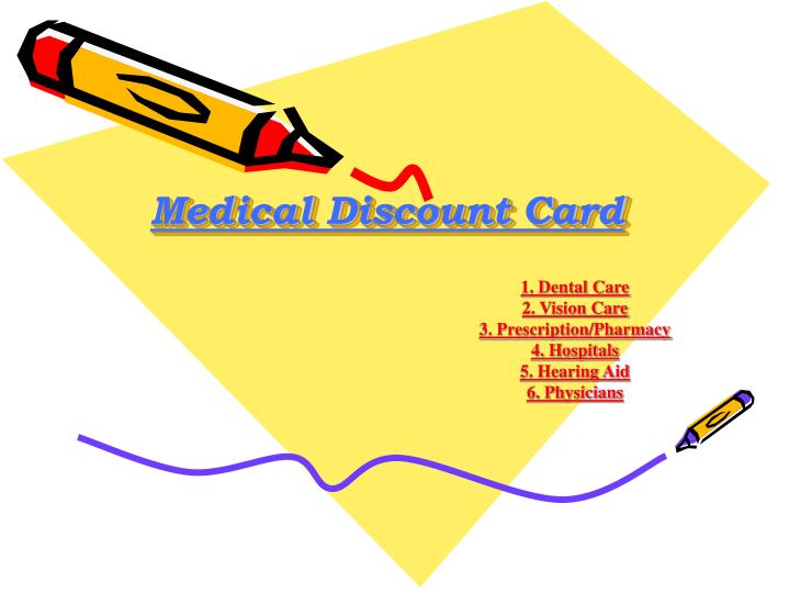 Medical discount card