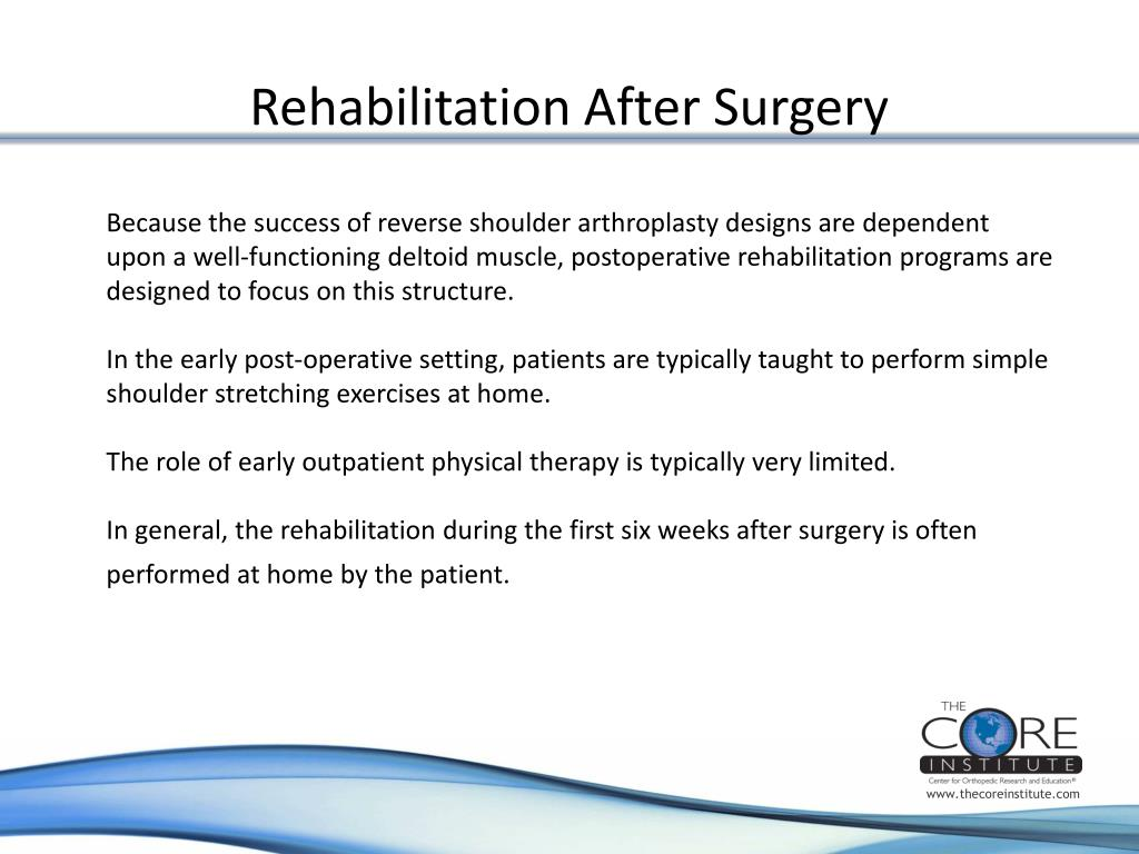 Rehabilitation After Surgery