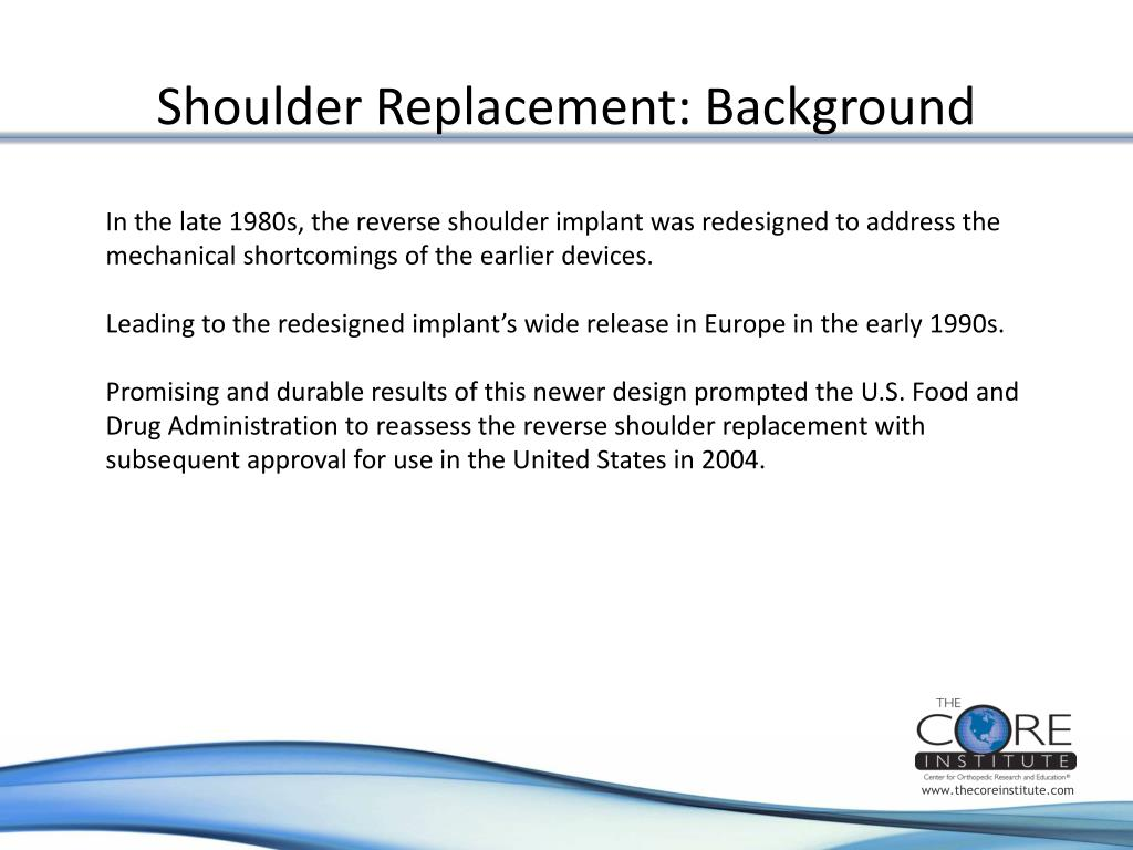 Shoulder Replacement: Background