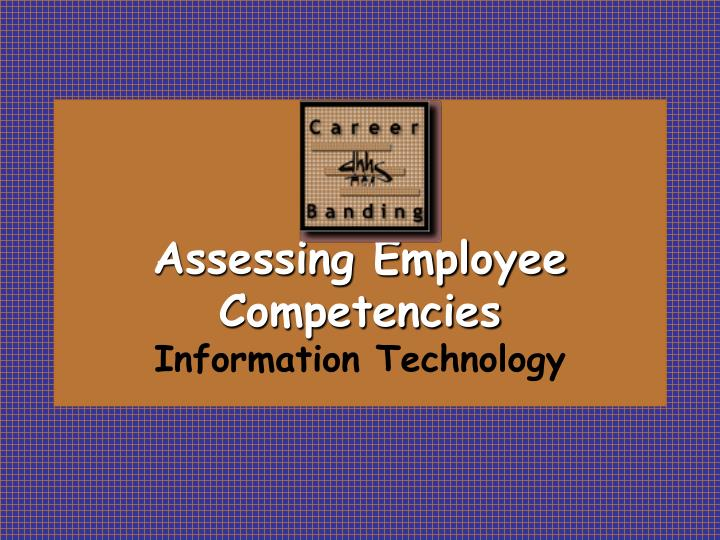 Assessing employee competencies information technology