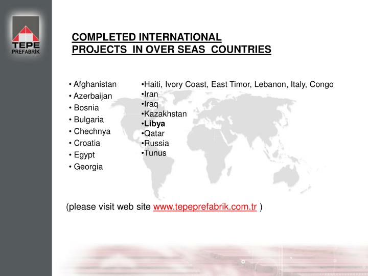 COMPLETED INTERNATIONAL