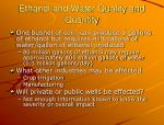 ethanol and water quality and quantity1