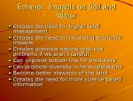 ethanol impacts on soil and water1