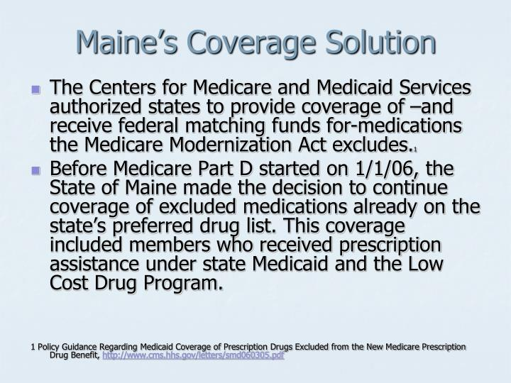 Maine's Coverage Solution