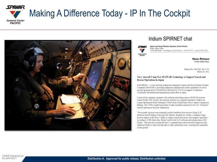 Making A Difference Today - IP In The Cockpit