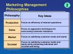 marketing management philosophies1