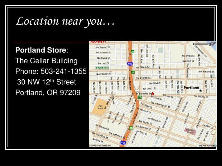 Location near you…