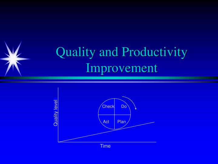 quality and productivity improvement