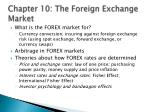 chapter 10 the foreign exchange market