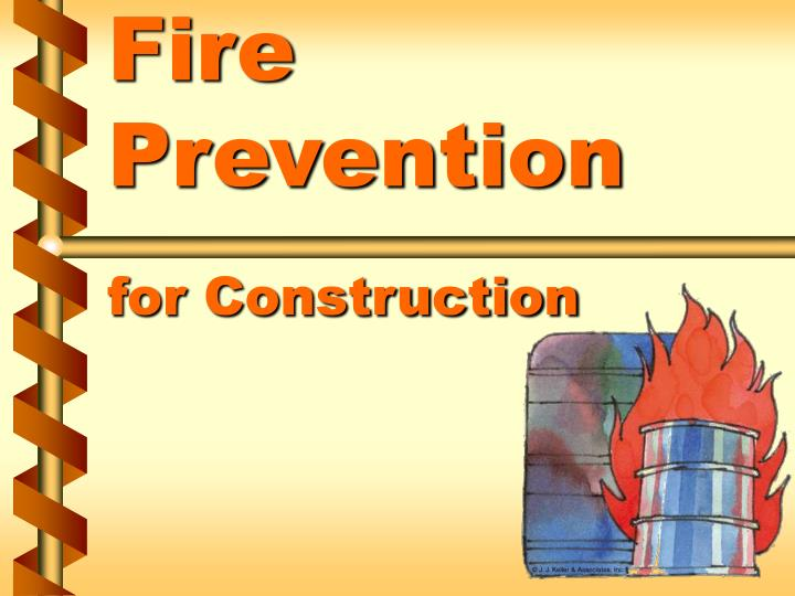 fire prevention for construction n.