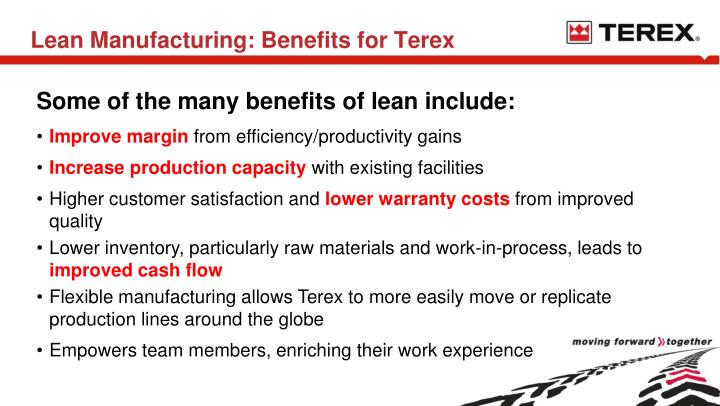 Lean Manufacturing: Benefits for Terex