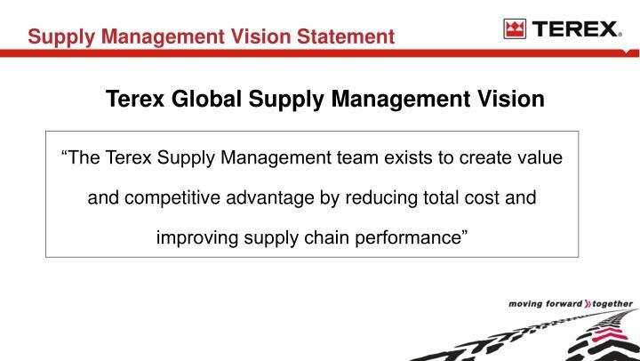 Supply Management Vision Statement