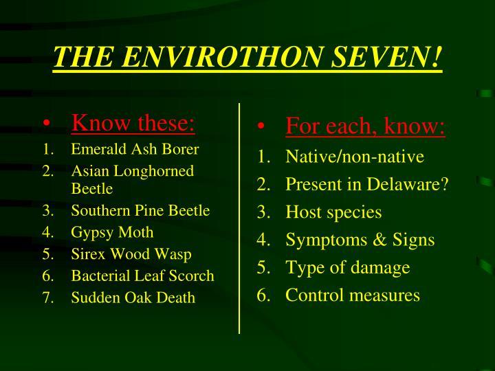 The envirothon seven