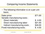 comparing income statements1