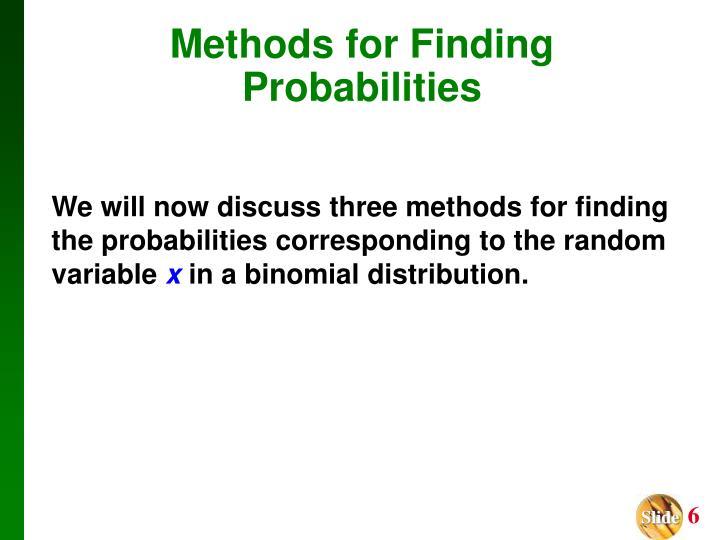 Methods for Finding