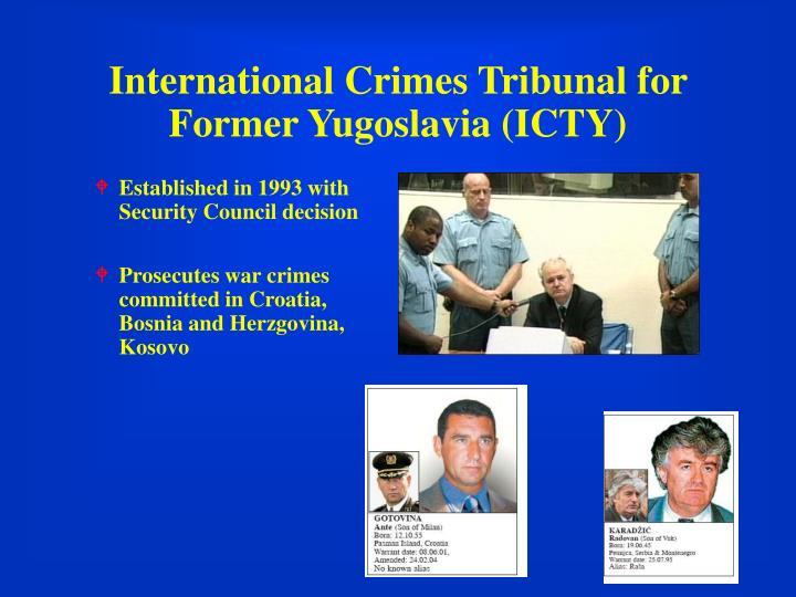 International Crimes Tribunal for Former Yugoslavia (ICTY)