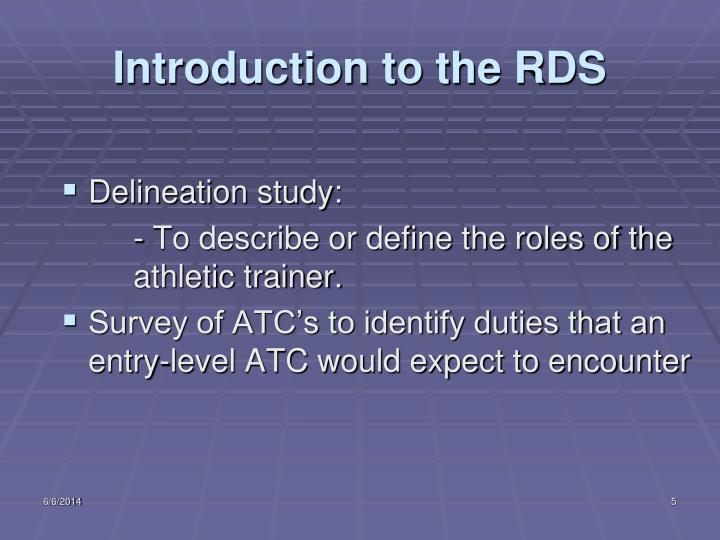 Introduction to the RDS