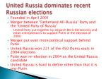 united russia dominates recent russian elections