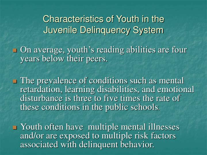 Characteristics of Youth in the