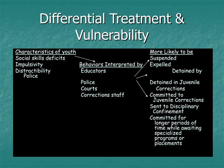 Differential Treatment & Vulnerability