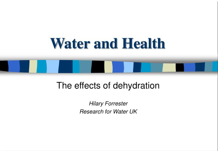 water and health n.
