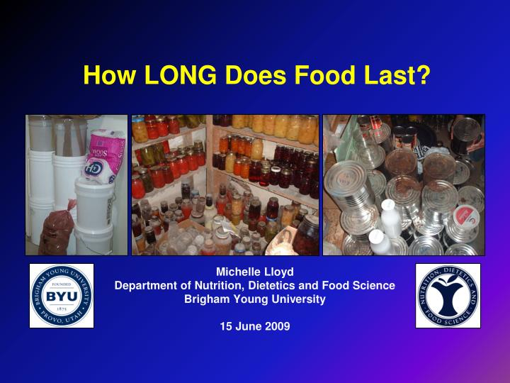 How long does food last